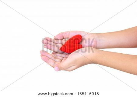 Hands Holding Red Heart