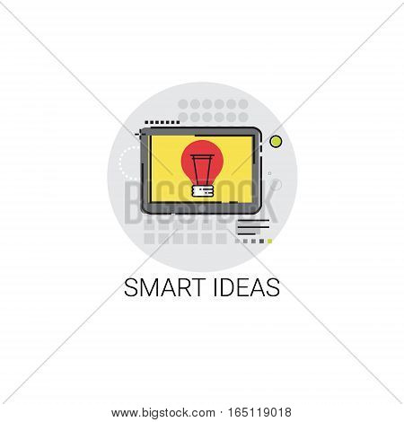 Smart New Creative Idea Business Planning Icon Vector Illustration