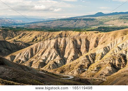 Badlands in the countryside of Sicily near Biancavilla