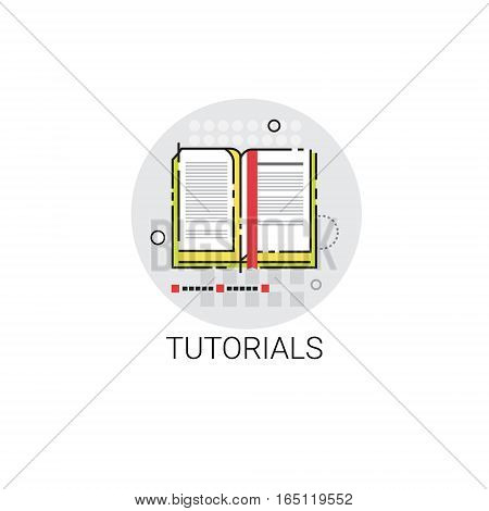 Tutorials Online Learning Distance Education Icon Vector Illustration