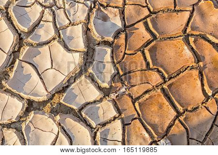 Surface Of Land With Dry And Cracked Ground