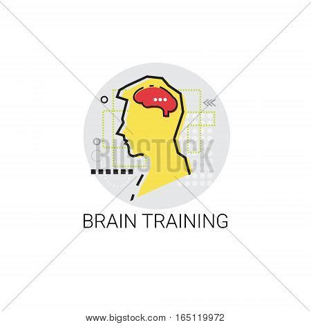 Brain Training Think New Idea Inspiration Creative Process Business Icon Vector Illustration