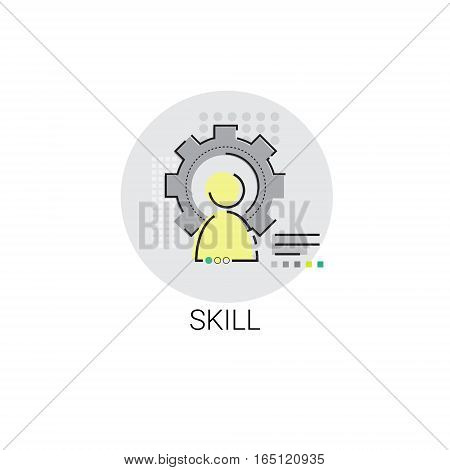 Business Skills Competence Achievement Icon Vector Illustration