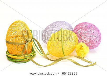 Easter Egg ornament on a white background