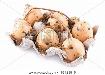 Eggs easter ornament on a white background