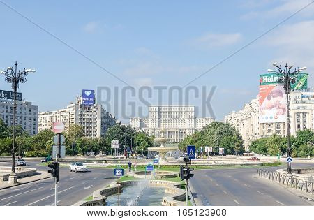 Bucharest, Romania - September 19, 2015. The Square