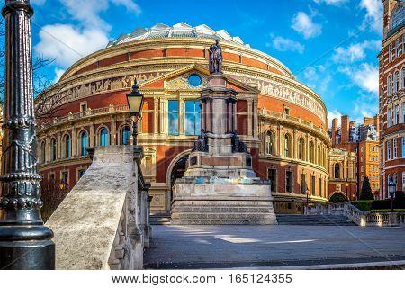 The Royal Albert hall, in South Kensington London UK