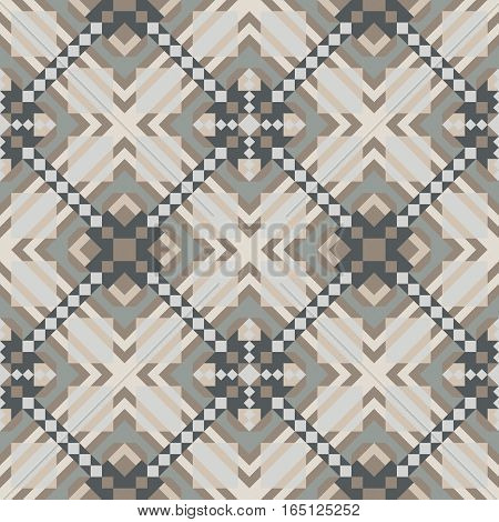 Mosaic seamless pattern. Colorful vector illustration. Abstract background.