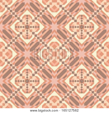 Mosaic seamless pattern. Colorful vector illustration. Abstract geometric background.