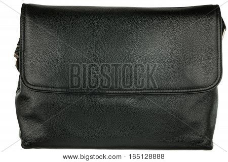 Classic men's briefcase. Isolated on white background