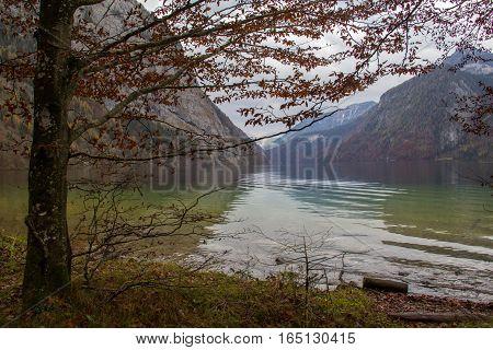 Mountain Lake / Lake Koenigsee (Bavaria, Germany)
