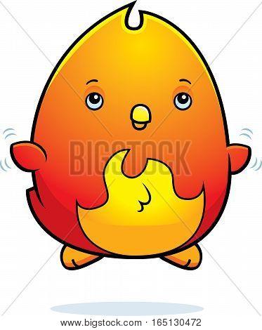 Cartoon Baby Phoenix Fly