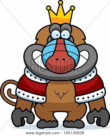 Cartoon Baboon King
