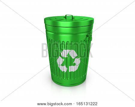 Trashcan 3D Illustration