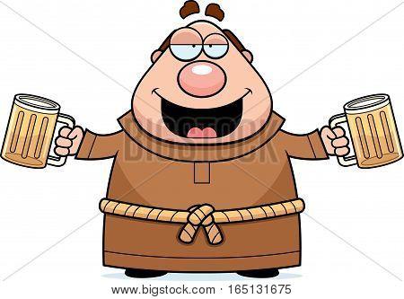 Cartoon Monk Beer
