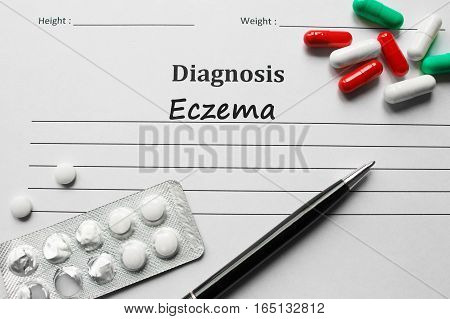 Eczema On The Diagnosis List, Medical Concept