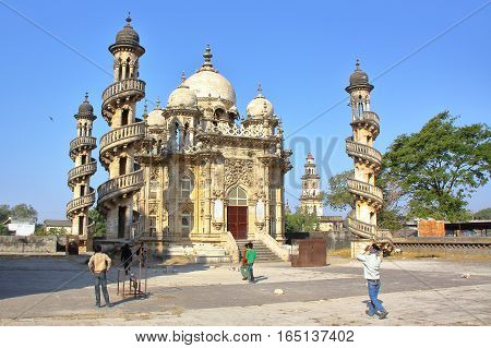 JUNAGADH, GUJARAT, INDIA - DECEMBER 31, 2013: Mahabat Maqbara Mausoleum