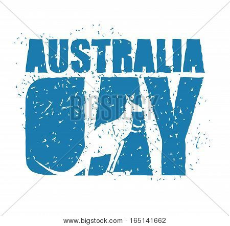 Australia Day. Traditional Australian Patriotic Holiday. Kangaroo National Animal Of Country. Januar