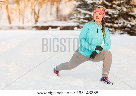 Girl Working Out In Freezing Temperatures