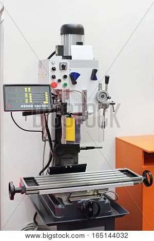 Automated Drilling and Milling Machine Tool in Workshop