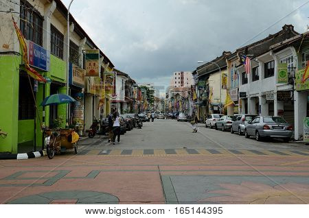 George Town/Malaysia - September 2012: Old Chinese House in George Townisland Penang Malaysia