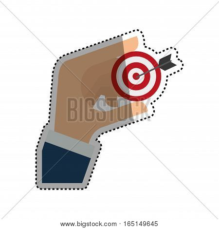 Target dartboard goal icon vector illustration graphic design