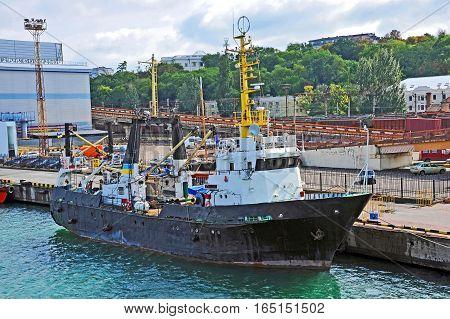 Trawler Ship In Harbor
