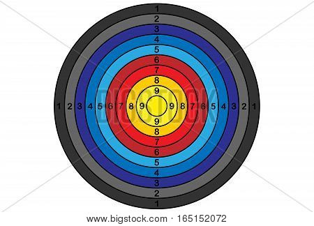colorful shooting target for archery vector gradient