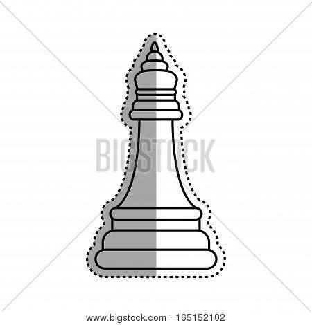 chess piece bishop icon vector illustration graphic design