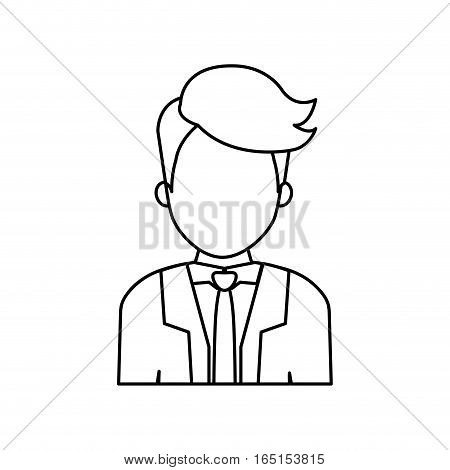 Businessman executive profile icon vector illustration graphic design