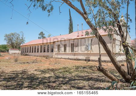 An historic old building in Fauresmith a small town in the Free State Province of South Africa.