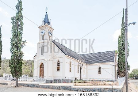 The Dutch Reformed Church in Jagersfontein a diamond mining town in the Free State Province of South Africa. The church was built in 1880