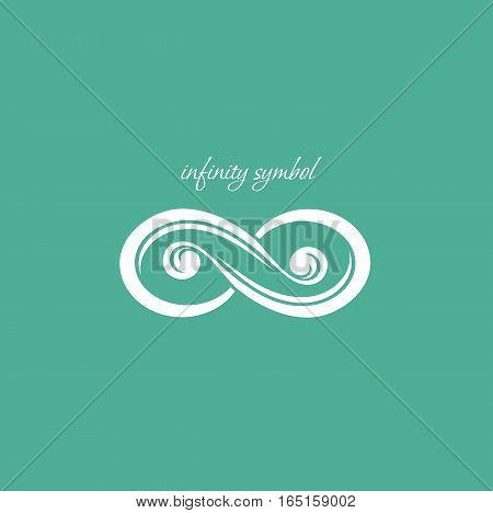 Infinity symbol for your design. Vector card