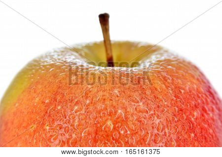 Wet, Ripe Apples Isolated On A White Background