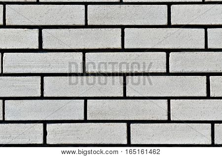 Texture Of A Wall From A White Silicate Brick
