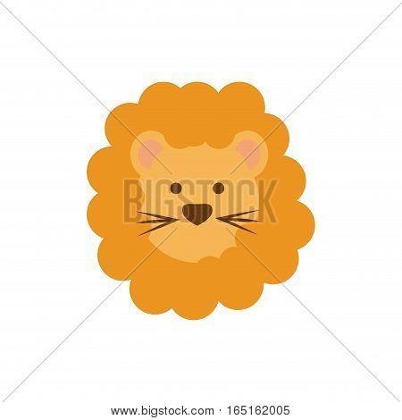 Cute lion cartoon icon vector illustration graphic design