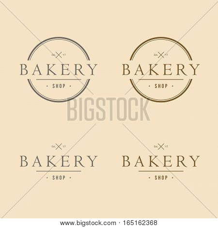 Bakery Vintage Logo Dsign Artsy Round Icon Template