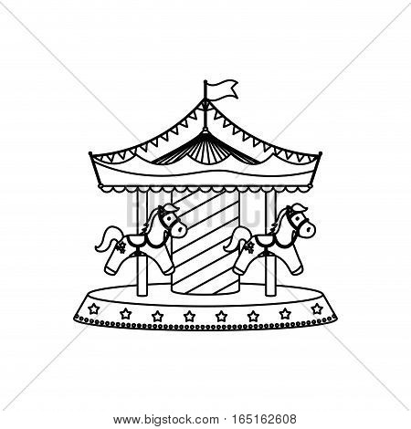 circus carrousel festival icon vector illustration graphic design