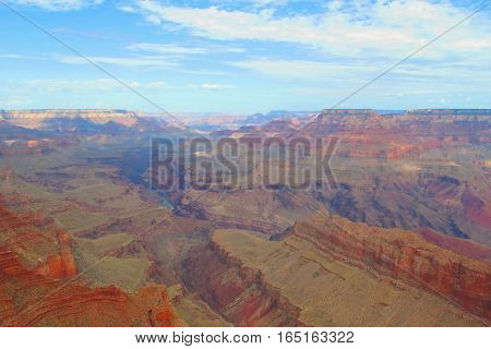 awesome view of the Grand Canyon colors in the rock