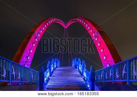 The Beautiful Rainbow Bridge At Yuanli