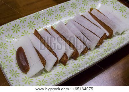Delicious Karasumi Slice