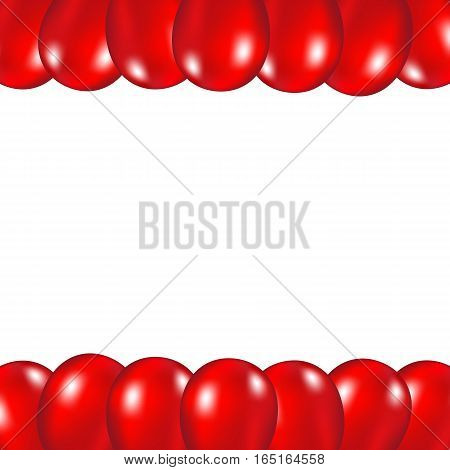 Red festive balloons background vector illustration on a white background