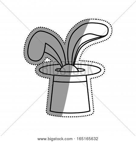 Rabbit magic trick icon vector illustration graphic design