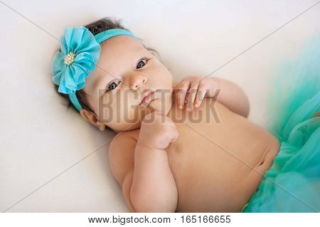 Baby Ballerina. Very cute baby girl wearing ballerina skirt