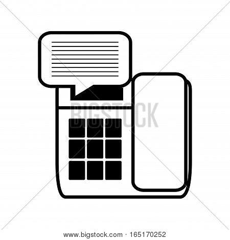 telephone communication talk message line vector illustration eps 10