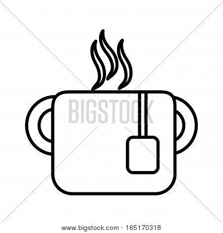 mug tea hot drink office line vector illustration eps 10