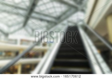 abstract blur of background of escalator in department store - can use to display or montage on product