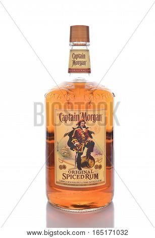 IRVINE CALIFORNIA - JANUARY 13 2017: Captain Morgan Spiced Rum. Named after the 17th-century Welsh privateer of the Caribbean Sir Henry Morgan.