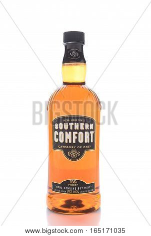 IRVINE CALIFORNIA - JANUARY 13 2017: Southern Comfort. Firts produced in 1874 at McCauley's Tavern in the French Quarter of New Orleans Louisiana.