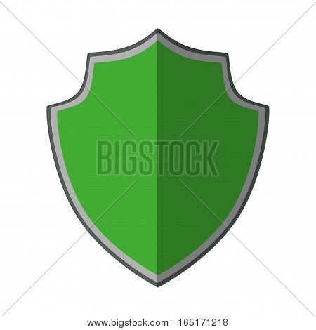 green shield protection trendy insignia shadow vector illustration eps 10